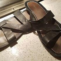 Kenneth Cole Reaction Italian Black Leather Sandals Size 12 Us Photo