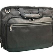 Kenneth Cole Reaction Laptop Bag Brand New Ez Scan Features & Leather Front Photo