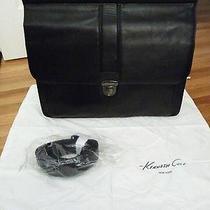 Kenneth Cole Reaction Leather Dowel Rod Portfolio Computer Briefcase - Black Photo
