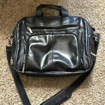 Kenneth Cole Reaction Leather Large Briefcase Laptop Crossbody Photo