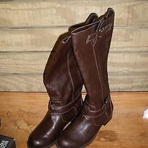 Kenneth Cole Reaction Love Seat Brown Boots 9 M New Pull on Studs Photo