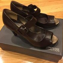 Kenneth Cole Reaction Mary Jane Womens Heels Dark Brown  Bark 7.5 Rubber Sole Photo