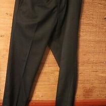 Kenneth Cole Reaction Men's Stretch Windowpane Slim Fit Flat Front Dress Pant 33 Photo