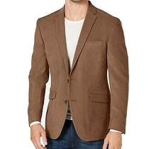 Kenneth Cole Reaction Mens Blazer Brown Size 40 Short Notch-Collar 295 231 Photo