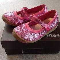 Kenneth Cole Reaction Prize on by 2 Velcro Mary Jane Glitter Pink Sz 8 Nib Photo