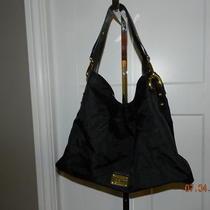Kenneth Cole Reaction Ring Leader Black Oversized Shoulder Handbag Hobo-Nyon Photo
