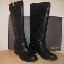 Kenneth Cole Reaction Shoes Size 7.5 M Womens New Love Seat Black Fashion Boots Photo