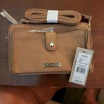 Kenneth Cole Reaction Small Beige New Foldover Crossbody Bag Convert to Clutch  Photo