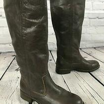 Kenneth Cole Reaction Tried & Tide Brown Leather Riding Boots Women's Size 6.5 M Photo