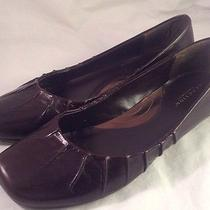Kenneth Cole Reaction Womens Solid Dark Brown Leather Ballet Flat Shoes Size 7  Photo