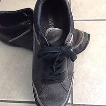 Kenneth Cole Trading Shots Size 10.5 Black Leather and Dark Gray Canvas Photo