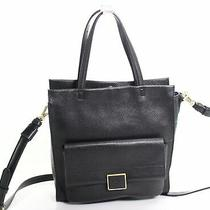 Kenneth Cole Women's Handbag Gold Black Polished Christie Tote Leather 189 005 Photo
