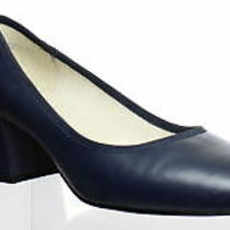 Kenneth Cole Womens Eryn Navy Leather Pumps Size 6.5 (934328) Photo