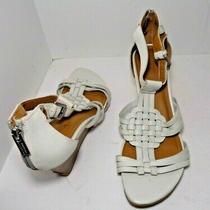 Kenneth Cole Womens Tstrap Sandal White Sandals Us Size 9m Photo