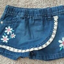 Kensie Baby Girl Size 2t Blue Shorts With Flowers Photo
