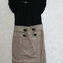Kensie Black Office Work Dress Off Shoulder Tan Xs  Photo