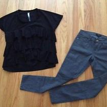 Kensie Blouse and Forever 21 Skinny Jeans - Size Xs/26 - New Photo
