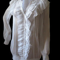 Kensie Blouse Women White Blouse Size S See Through Nwt Photo