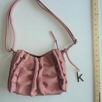 Kensie Blush Pink Purse Bow Ruffle Ladies Shoulder Hand Bag - Flash Sale Photo