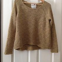 Kensie Boat Neck Gold-Toned Knit Acrylic Sweater M Photo