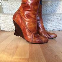 Kensie Boots Tulip Leather Boots Nwob 8.5 Fantastic Detailing With Awesome Heel Photo