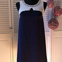 Kensie Dresses Navy and Cream Sleeveless Dress Size 2 Photo
