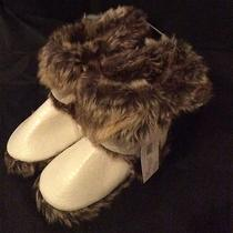 Kensie Faux Snakeskin With Fur Indoor /outdoor Slippers Nwt  Msrp 44.00 Photo