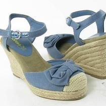 Kensie Girl Keralisa Wedge Sandals Blue Womens Size 6 M New 49 Photo