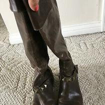 Kensie Girl Knee High Brown Distressed Boots Size 8.5 Photo