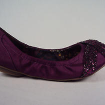Kensie Girl Women's Flats 6m  Bright Purple January Ballet Shantung Glitter Nwb Photo