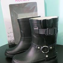 Kensie Girls Shoe Size 11 Black Rain Boots Wellingtons New Nib Buckle Jelly Photo