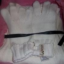 Kensie Glove and Scarf Set Cream Color Nwt in Box Photo