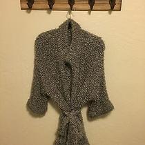 Kensie Gray Nylon Women's Wrap Sweater Size Large L  Photo