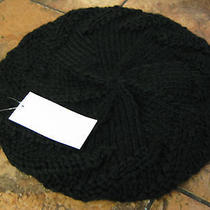 Kensie--Hand Knit Beret--100% Acrylic--Black--New W/tags Photo