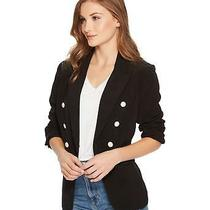 Kensie (Jl8269-62) Double-Breasted Blazer Jacket Black Sz Xs 99 Photo
