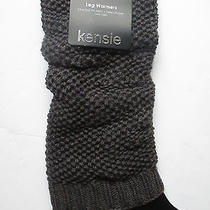 Kensie Ladies Knit Legwarmers Womens Brown New Boot Leg Warmer One Size Photo