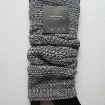 Kensie Ladies Knit Legwarmers Womens Gray Black New Boot Leg Warmer One Size Photo