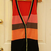 Kensie Long Sweater Vest in Bright Colors Womens Size Xl Photo