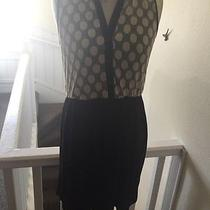 Kensie Macys Sleevless Polka Dot and Black Button Dress Large Photo