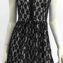 Kensie New Womens S Lace High Waist Baby Doll Dress Short Cocktail Chop 4eo1z1 Photo