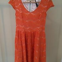 Kensie Orange Lace Size Small Dress Photo