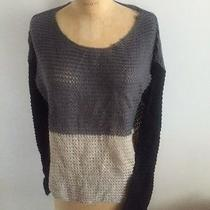 Kensie 'Pieces' Sweater Macy's Size M Nude Grey and Black Photo