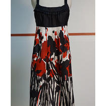 Kensie Pretty Black/red Silk Dress Size Medium Fun and Flirty Photo