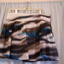 Kensie Pretty Silk Blend Ombre Mini Skirt Sz 10 Photo