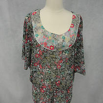 Kensie Pretty Sz S Dolman Sheer Top Photo