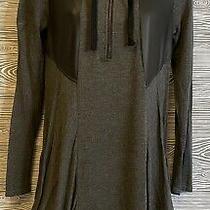 Kensie Punk Long Sleeve Elbow Patches Hoodie Bubble Hem Couture Dress Size S Photo