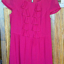 Kensie Red Ruffle Dress Size M Photo