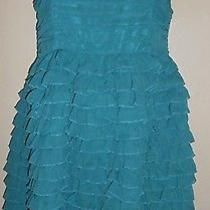 Kensie   Ruffle  Ruched  Dress  Sz  10  Aquamarine   New   178.00 Photo