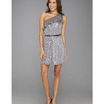 Kensie Shimmer and Shine Sequin One Shoulder Slate Gray Medium Dress Defect 89 Photo