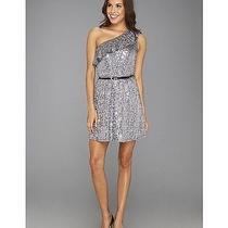 Kensie Shimmer and Shine Sequin One Shoulder Slate Gray Medium Dress Defect 89 Photo
